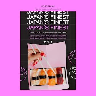 Najlepszy szablon plakatu sushi w japonii