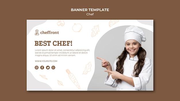 Najlepszy szablon transparent szefa kuchni