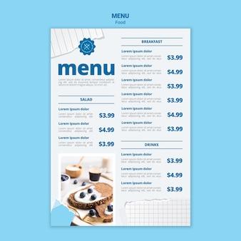 Najsmaczniejszy szablon menu śniadaniowego