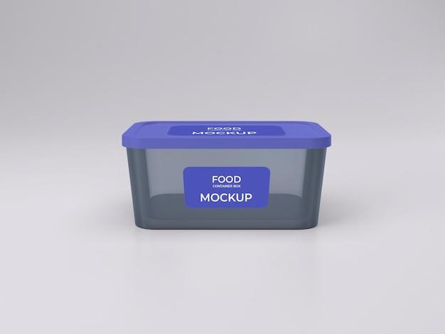 Najwyższej jakości konfigurowalny widok z przodu makiety pojemnika na żywność