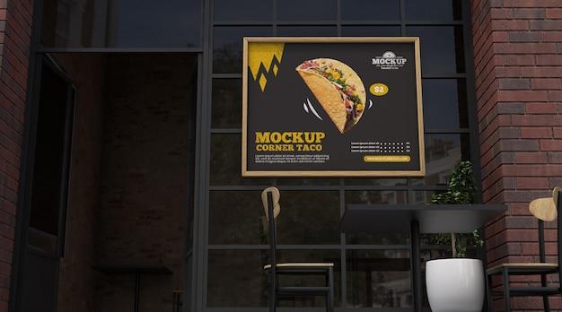 Narożna makieta biznesowa dla tacos