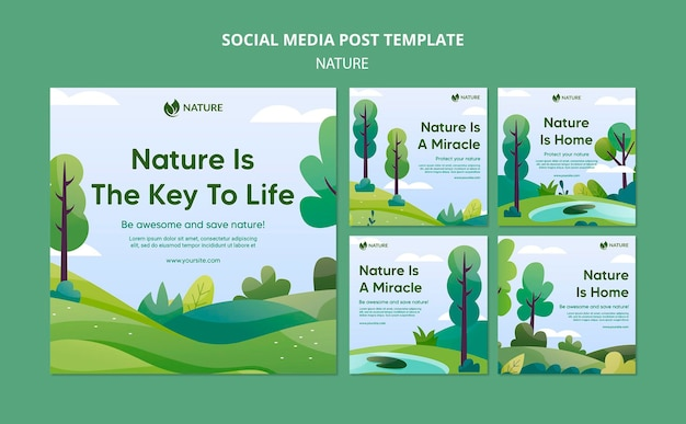 Natura jest kluczem do życia postów na instagramie