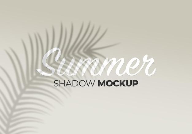 Natura liście palmowe lato tło cień makieta na białej ścianie