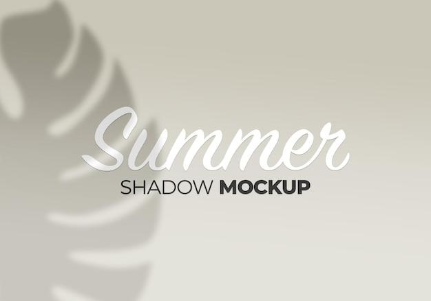 Natura monstera pozostawia makieta cienia tła lato na białej ścianie