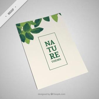 Natura ulotki makieta