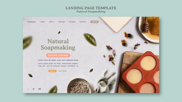 Naturalna strona docelowa produkcji mydła
