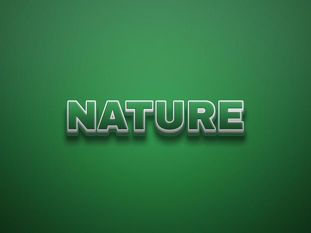 Naturalny zielony edytowalny styl tekstu plik psd