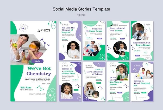 Naukowe historie w mediach społecznościowych ze zdjęciem