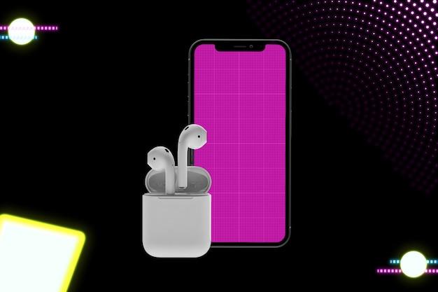 Neon music app mockup