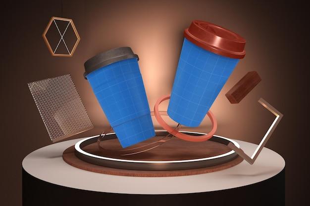Neonowa filiżanka kawy
