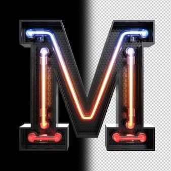 Neonowa litera m.