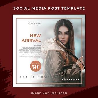 New arrival brązowy moda sprzedaż szablon mediów społecznościowych post