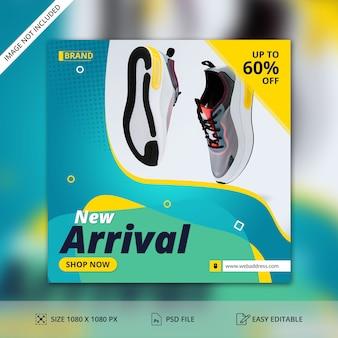 New arrival sprzedaż social media post szablon transparent