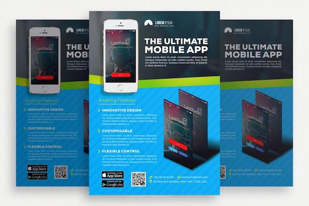 Niebieska i czarna broszura biznesowa