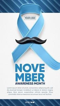 Niebieska koncepcja ruchu w listopadzie