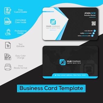 Niebieska wizytówka firmy
