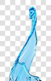 Niebieska woda plusk, warstwowy plik psd