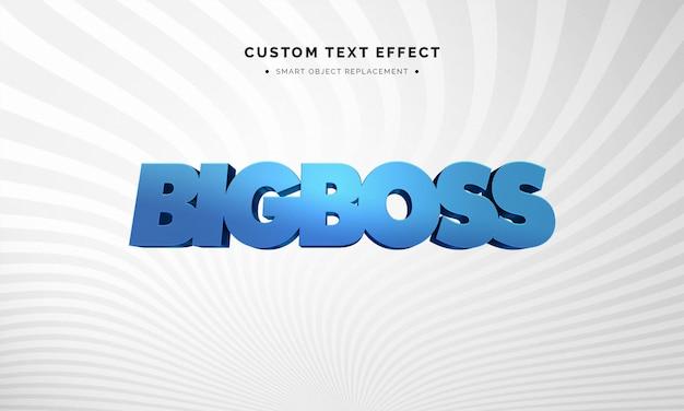 Niebieski Efekt Stylu Tekstu 3d Premium Psd