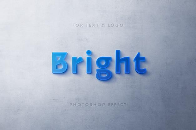 Niebieski efekt tekstu 3d