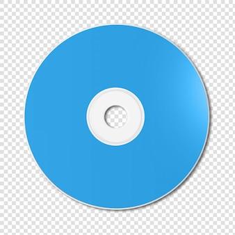 Niebieski szablon makieta cd - dvd na białym tle