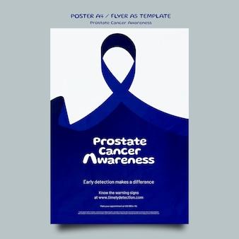 Niebieski szablon plakatu z listopada