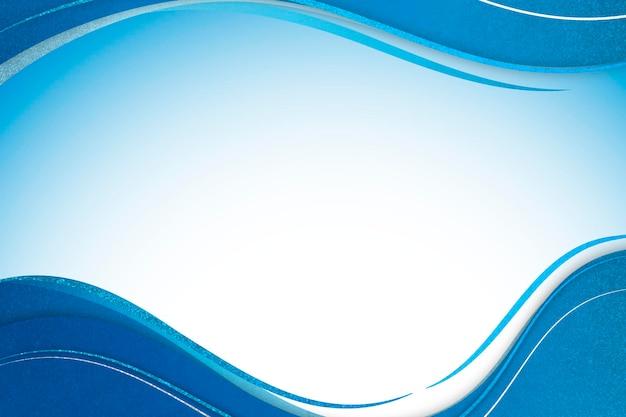 Niebieski szablon ramki krzywej na tle ombre