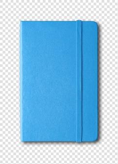 Niebieski zamknięty notatnik odizolowywający