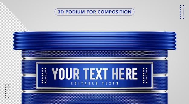 Niebieskie podium 3d do kompozycji