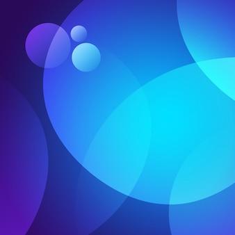 Niebieskie tło okręgi