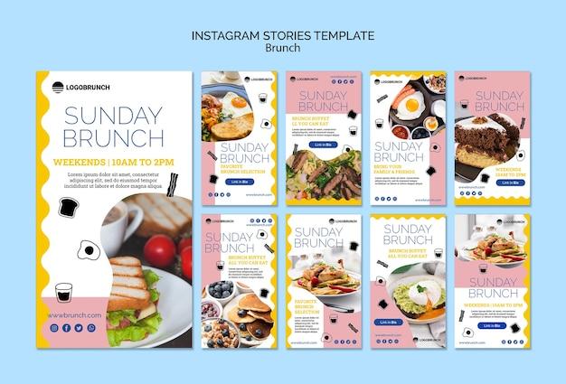 Niedzielny brunch szablon post instagram żywności