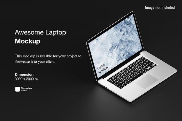 Niesamowita makieta laptopa