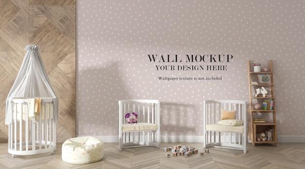 Niesamowite Tło ściany Pokoju Dziecięcego Premium Psd