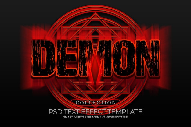 Niestandardowy efekt tekstowy demonicznego ognia