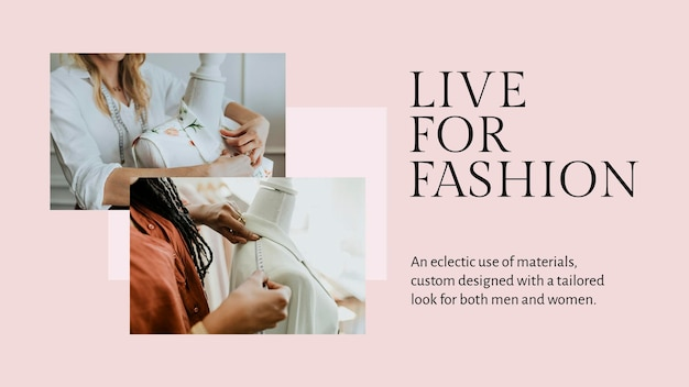Niestandardowy szablon prezentacji psd o wyglądzie mody