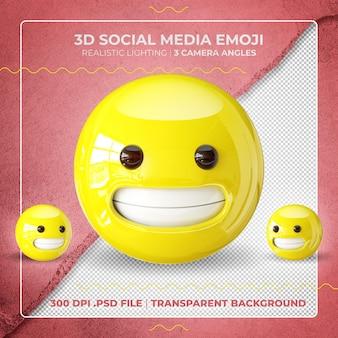 Niezdarny emoji 3d na białym tle