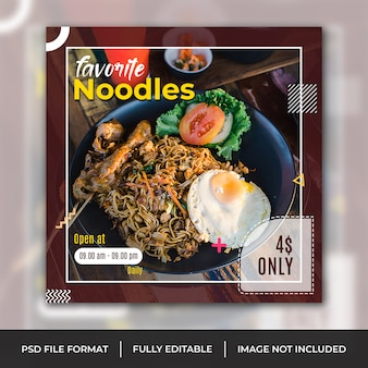 Noodles instagram szablon banner, baner