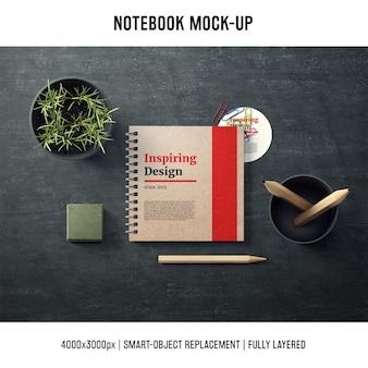 Notebook makieta szablon