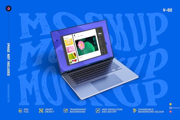 Nowa nowoczesna, wysokiej jakości, edytowalna makieta ekranu laptopa