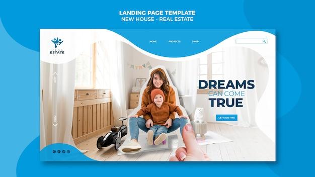 Nowa strona docelowa nieruchomości mieszkaniowych