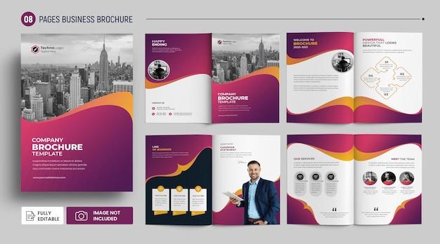 Nowoczesna broszura biznesowa wielostronicowy szablon okładki premium psd