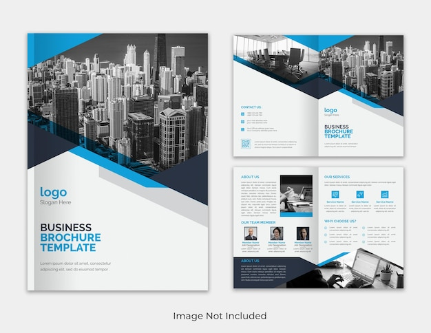 Nowoczesna korporacyjna wielofunkcyjna minimalistyczna propozycja biznesowa bifold szablon broszury