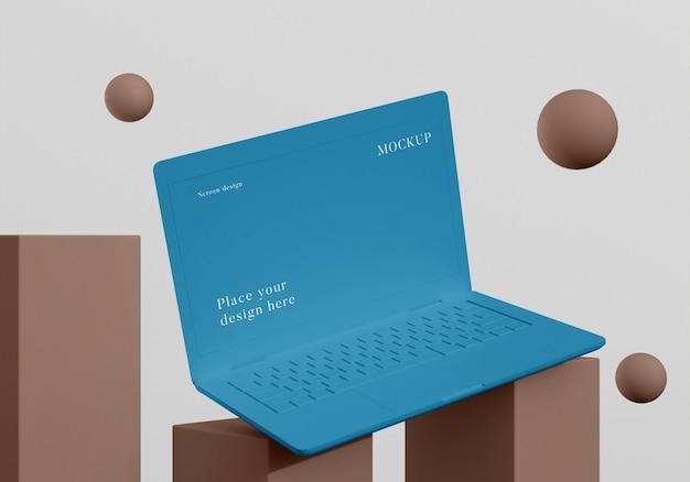 Nowoczesna makieta aranżacji laptopa
