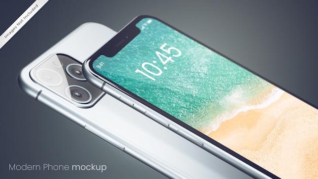 Nowoczesna makieta doskonałego telefonu