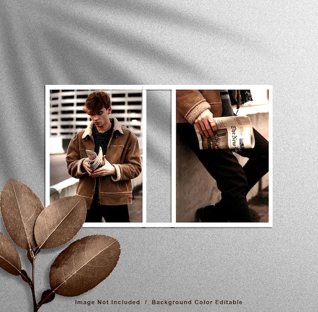 Nowoczesna makieta ramek do zdjęć