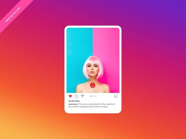 Nowoczesna makieta ramki postu na instagram