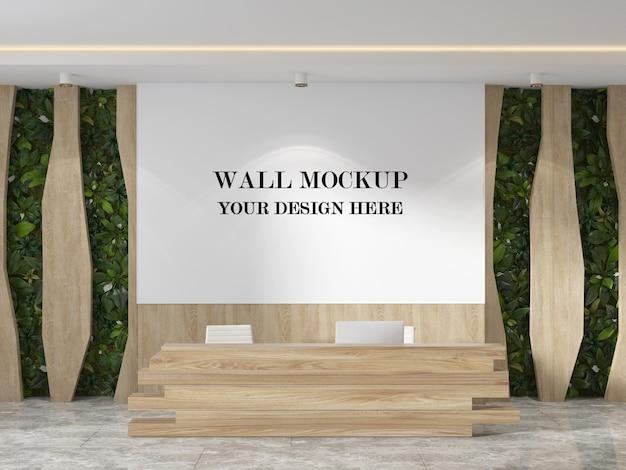 Nowoczesna makieta ściany holu renderowania 3d