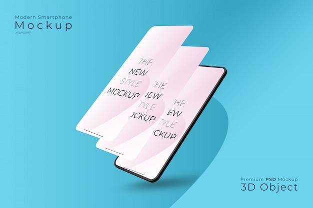 Nowoczesna makieta smartfona z różnymi ekranami