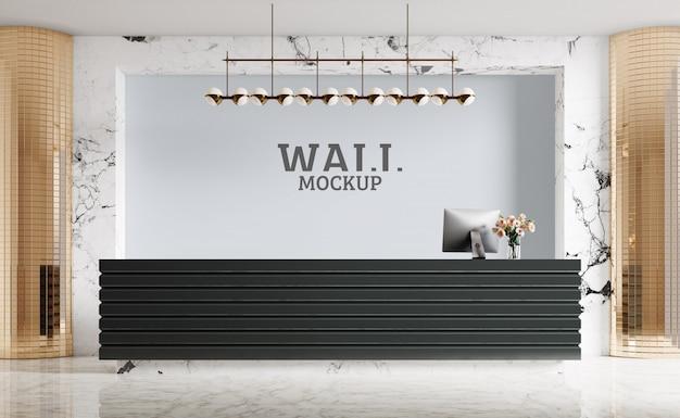 Nowoczesna recepcja, luksus. makieta ścian