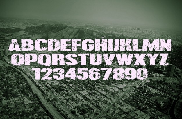 Nowoczesna typografia grunge.
