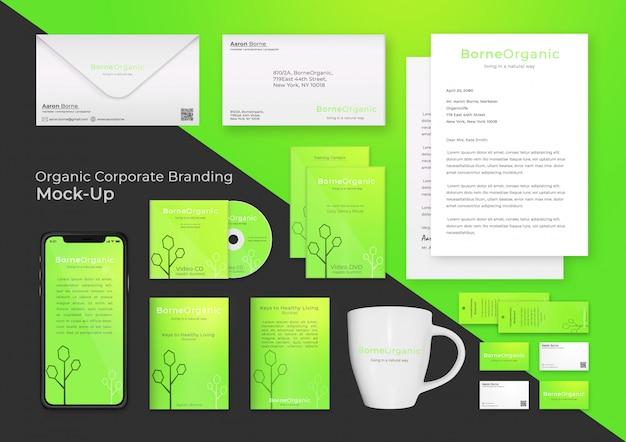 Nowoczesne corporate branding makiety